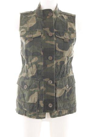 Abercrombie & Fitch Biker Vest khaki allover print street-fashion look