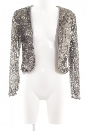 Abercrombie & Fitch Blouson silver-colored glittery