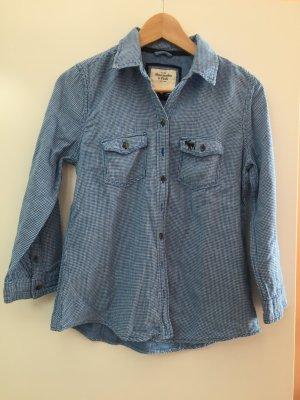 Abercrombie & Fitch Bluse blau kariert, Größe S