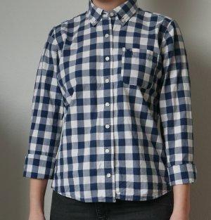 Abercrombie & Fitch Camicia a scacchi blu scuro-bianco