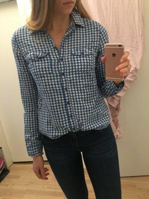 Abercrombie & Fitch Bluse Blau Weiß kariert Größe M