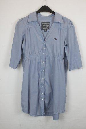 Abercrombie & Fitch Bluse Blusenkleid Gr. M blau weiß gestreift (18/3/195)
