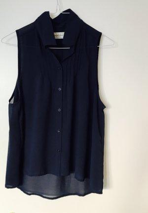 Abercrombie & Fitch Bluse dunkelblau 36 S transparent