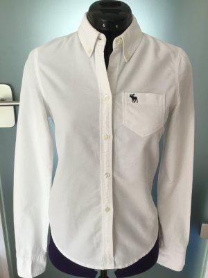 Abercrombie & Fitch Bluse Hemd Baumwolle weiß XS
