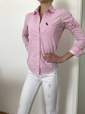 Abercrombie&Fitch Bluse / Hemd weiß rosa