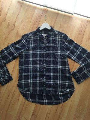 Abercrombie&Fitch Bluse in dunkelblau mit Pailletten und kaum getragen Gr.M