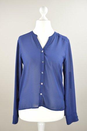 Abercrombie & Fitch Bluse langärmlig blau Größe S