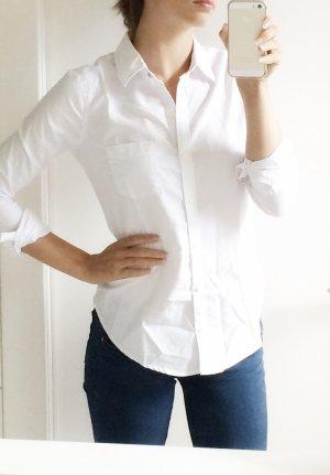 Abercrombie & Fitch Bluse weiß Baumwolle Slim XS 34 NEU