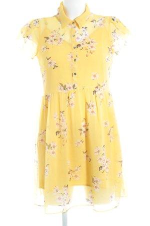 Abercrombie & Fitch Abito blusa arancione chiaro-giallo-oro motivo floreale