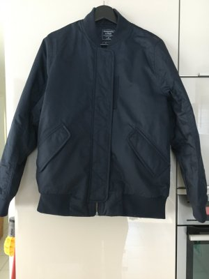 Abercrombie & Fitch Bomber Jacket dark blue mixture fibre