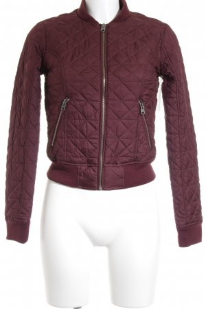 Abercrombie & Fitch Bomber Jacket bordeaux college style
