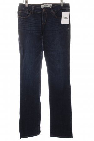 Abercrombie & Fitch Boot Cut Jeans dunkelblau Casual-Look