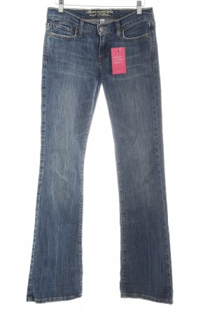 Abercrombie & Fitch Boot Cut Jeans slate-gray distressed style