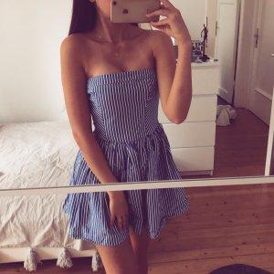 Abercrombie & Fitch Bustier Kleid Korsage Streifen
