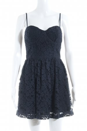 Abercrombie & Fitch Vestido bustier azul oscuro elegante
