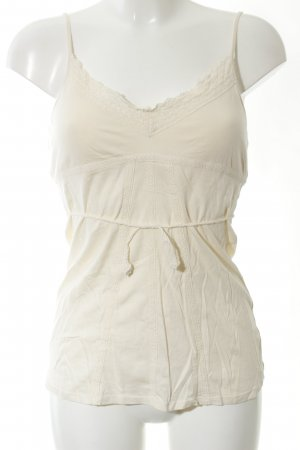 Abercrombie & Fitch Bustier Top cream casual look