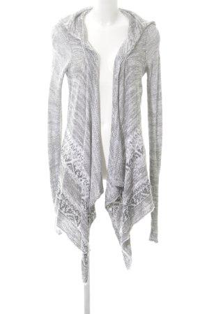 Abercrombie & Fitch Cardigan grigio chiaro-bianco stampa integrale stile casual