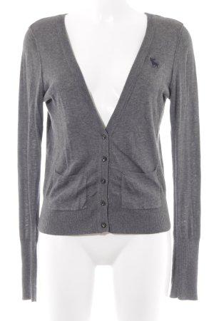 Abercrombie & Fitch Cardigan gris foncé-gris moucheté style mode des rues