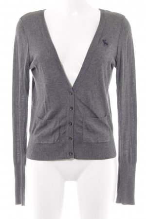Abercrombie & Fitch Cardigan dunkelgrau-grau meliert Street-Fashion-Look