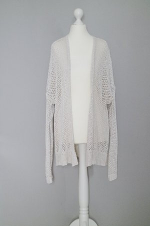 Abercrombie & Fitch Cardigan Gr. M Grobstrick Lochpullover Lochmuster