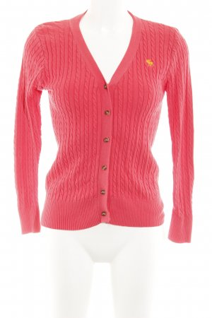 Abercrombie & Fitch Cardigan himbeerrot Zopfmuster Casual-Look
