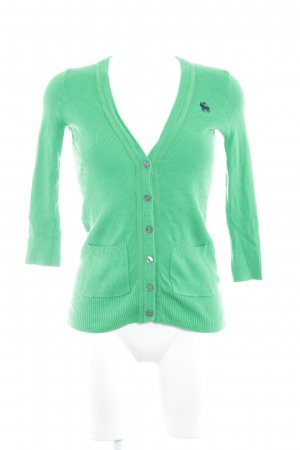 Abercrombie & Fitch Cardigan vert fluo style extravagant
