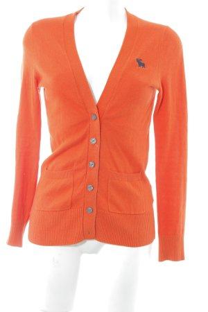 Abercrombie & Fitch Cardigan neonorange-orange Kuschel-Optik