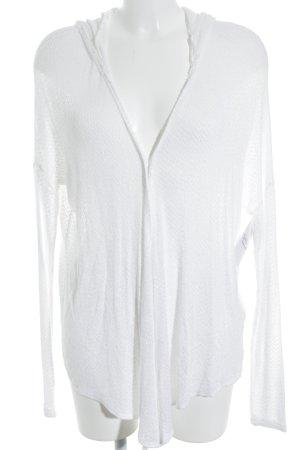 Abercrombie & Fitch Cárdigan blanco modelo de punto flojo estilo clásico