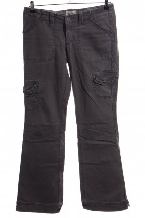 Abercrombie & Fitch Cargohose schwarz Casual-Look