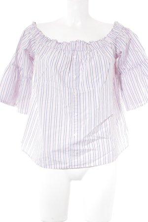 Abercrombie & Fitch Blusa tipo Carmen estampado a rayas estilo romántico