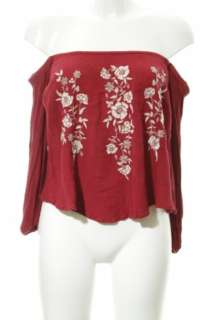 Abercrombie & Fitch Carmenshirt florales Muster