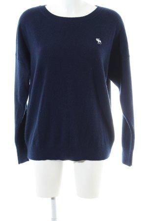 Abercrombie & Fitch Cashmere Jumper dark blue casual look