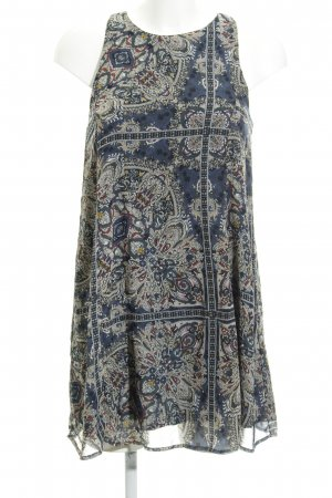 Abercrombie & Fitch Chiffonkleid abstraktes Muster Hippie-Look