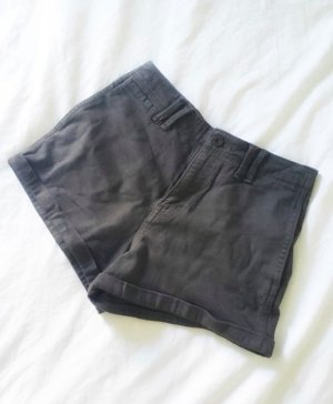 Abercrombie & Fitch Chino High Waist Shorts Khaki 34 XS Neu 00