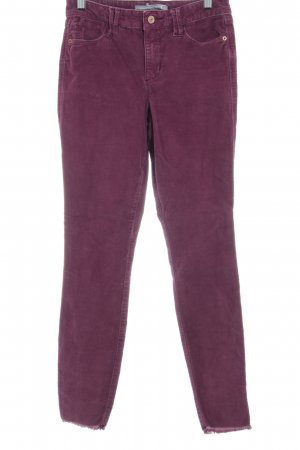 Abercrombie & Fitch Corduroy Trousers blackberry-red casual look