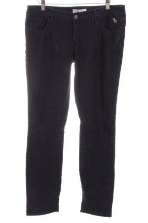 Abercrombie & Fitch Cordhose dunkelblau Street-Fashion-Look