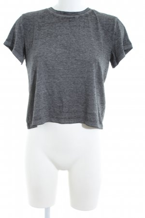 Abercrombie & Fitch Cropped Shirt light grey flecked casual look