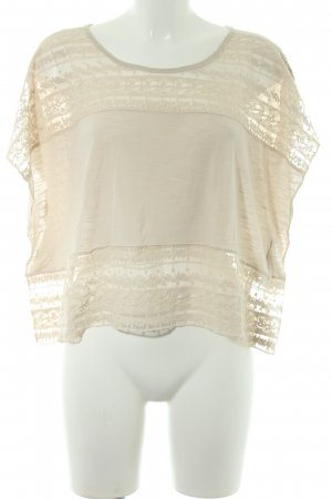 Abercrombie & Fitch Cropped Shirt creme Romantik-Look