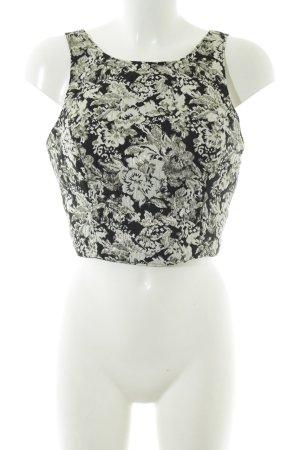 Abercrombie & Fitch Top corto motivo floreale elegante
