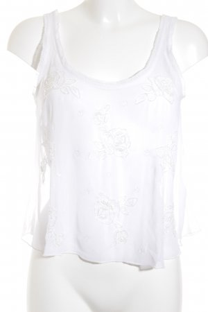 Abercrombie & Fitch Cropped Top weiß Transparenz-Optik