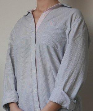 Abercrombie & Fitch Blusa taglie forti azzurro Cotone