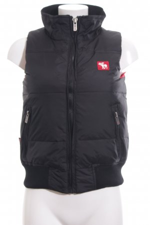 Abercrombie & Fitch Down Vest black quilting pattern casual look