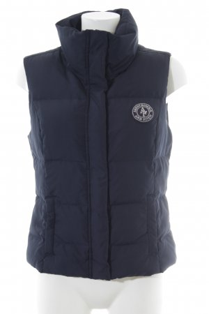 Abercrombie & Fitch Donsvest donkerblauw gestreept patroon casual uitstraling