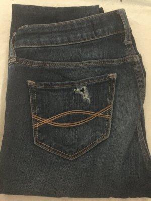 Abercrombie&Fitch Distressed Skinny Jeans blau