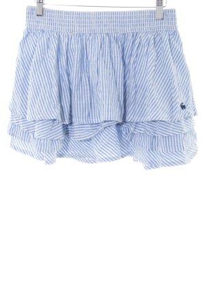 Abercrombie & Fitch Faltenrock blau-weiß Streifenmuster Casual-Look