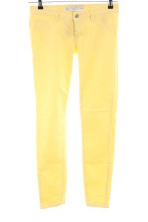 Abercrombie & Fitch Pantalon cinq poches jaune primevère style décontracté