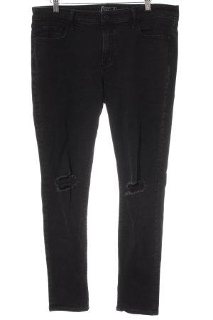 Abercrombie & Fitch Pantalone cinque tasche nero Stile ciclista