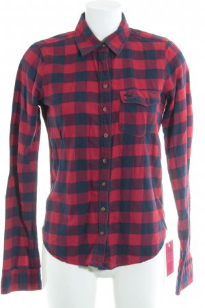Abercrombie & Fitch Flanellhemd dunkelblau-rot Karomuster Country-Look