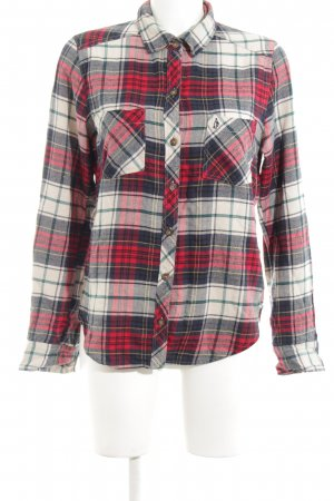 Abercrombie & Fitch Flannel Shirt red-light grey allover print elegant