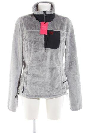 Abercrombie & Fitch Fleece Jumper light grey-black casual look